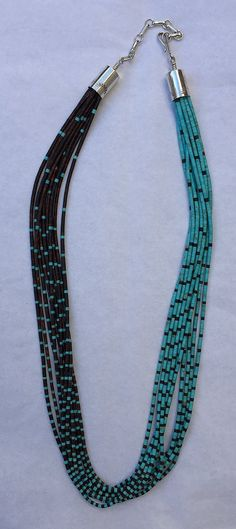 "Ironwood and turquoise necklace, 18"" w 2"" extender, Bahti Indian Arts, Tucson."