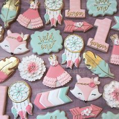 First birthday cookies. Wild one cookies. First birthday cookies. Wild one cookies. First Birthday Cookies, 1st Birthday Themes, Wild One Birthday Party, Baby Girl 1st Birthday, First Birthday Parties, Birthday Ideas, Birthday Decorations, Birthday Cake, Twins 1st Birthdays