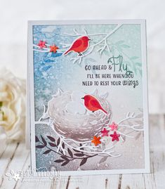 Go Ahead & Fly Card by Betsy Veldman for Papertrey Ink (March 2017)