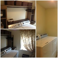 After/Before Laundry Room DIY