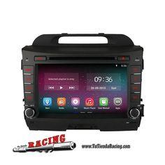 Ordenador Consola a Bordo GPS DVD 2GB RAM 1024X600 Quad Core Bluetooth Android Para Kia Sportage R -- 306,98€