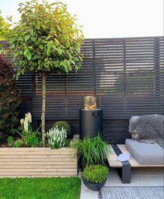 Outdoor Living Areas, Outdoor Spaces, Outdoor Decor, Backyard Patio, Backyard Landscaping, Cedar Wood Fence, Garden Posts, Garden Ideas, Small Garden Landscape