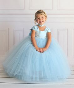 Blue Princess Dress - Toddler u0026 Girls  sc 1 st  Pinterest & Toddler Girls Cinderella Princess Dress Cinderella Costume ...
