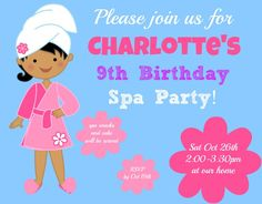 Great 9 Year Old Girl�s Birthday Party Idea: A Spa Party!