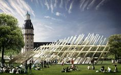 Jubilee Pavilion in Karlsruhe will help the city celebrate its 300th anniversary in style