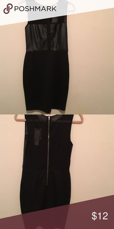 Little black dress Top is mesh. Middle is bandage and end is cotton. Dresses Midi