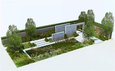 Andy Sturgeon's design for the 'New English' M Garden 2012 at the RHS Chelsea Flower Show