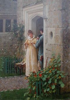 """The Request"" ~ Edmund Blair Leighton"
