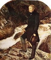 'Portrait of John Ruskin at Glen Finglas', John Everett Millais, 1853-54 (Private Collection)