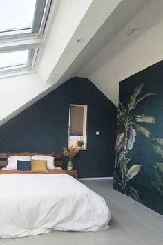 Attic Master Bedroom, Attic Bedrooms, Bedroom Loft, Bedroom Inspo, Dream Bedroom, Home Bedroom, Guest Room Office, Loft Room, Aesthetic Bedroom