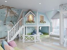 Bed For Girls Room, Cool Kids Bedrooms, Kids Bedroom Designs, Cute Bedroom Ideas, Room Design Bedroom, Cute Room Decor, Room Ideas Bedroom, Kids Room Design, Awesome Bedrooms