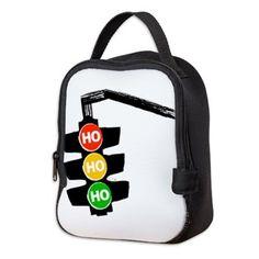 Ho Ho Ho Traffic Lights Neoprene Lunch Bag