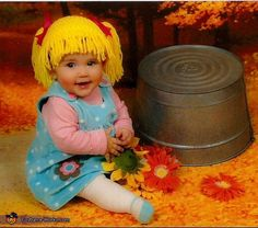 Cabbage Patch Doll Baby - Halloween Costume Contest...oh my gosh, yes!  People already think our baby girl looks like a cabbage patch baby!