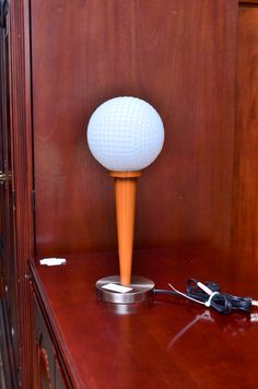 Golf Ball Tee table lamp, $21.56