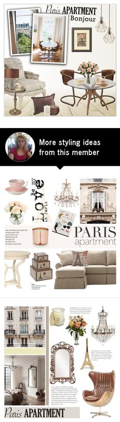 """""""Paris Apartment"""" by helenevlacho on Polyvore featuring interior, interiors, interior design, home, home decor, interior decorating, Amanti Art, Renwil, Universal Lighting and Decor and Nearly Natural"""