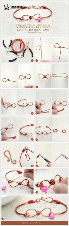 Jewelry Making Tutorial--DIY Infinity Wire Bracelet | PandaHall Beads Jewelry Blog