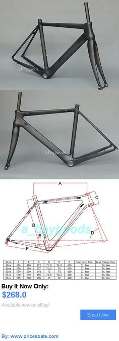 bicycle parts: Brand New Full Carbon Matt Cycling Road Bike Frame 48Cm Bicycle Fork 700C BUY IT NOW ONLY: $268.0 #priceabatebicycleparts OR #priceabate