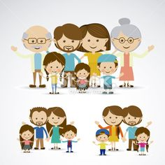 Different Families Royalty Free Stock Vector Art Illustration