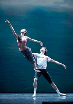 Irina Perren and Marat Shemiunov in rehearsal for Spring Waters.  Photo by Nikolay Krusser.