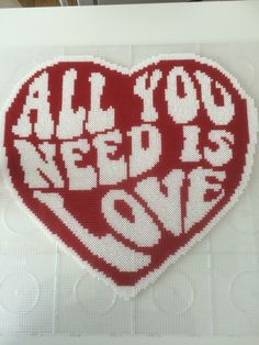 All you need is love - Hama perler bead heart by Carina Bergenstoff