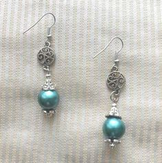 Teal Glass Drops