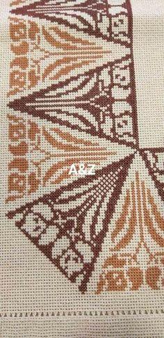 Cross Stitch Borders, Cross Stitch Designs, Cross Stitch Patterns, Cross Stitch Embroidery, Hand Embroidery, Hobbies And Crafts, Bohemian Rug, Crochet, Handmade