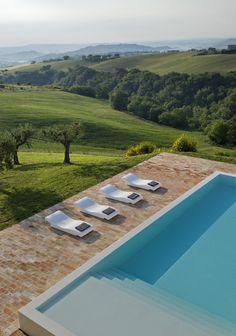 View from Le Marche Villa
