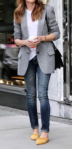 casual style addiction jacket + top + jeans + bag