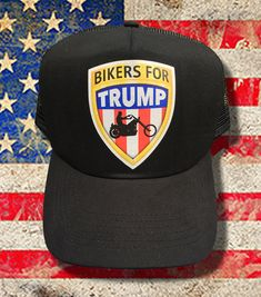 Bikers for Trump Truckers Cap Motorcycle Style, Bike Style, Custom Motorcycles, Custom Bikes, Bikers For Trump, Spin Bikes, Cool Bike Accessories, Bike Wheel, Bike Design
