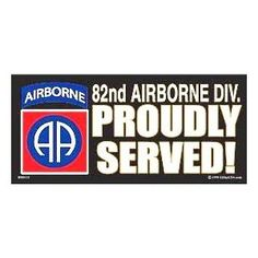"82ND AIRBORNE DIVISION* ALL AMERICAN *BLACK Bumper Sticker 3"" X 6 1/2"""