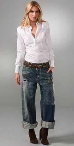 boyfriend jeans DIY #fidmfashionclub