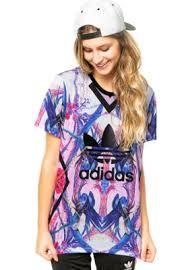Resultado de imagem para camiseta adidas colorida