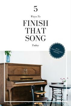 I know you got a handful of unfinished songs lyring around. Here's how to finish them right this second. PLUS, BONUS FREEBIE download! | SongFancy.com