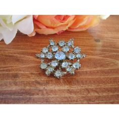 Jewelry, brooch, blue rhinestone brooch, pin, mother of bride brooch,... ($15) ❤ liked on Polyvore featuring jewelry, brooches, vintage pins brooches, vintage broach, vintage rhinestone brooches, pin brooch and bridal brooch