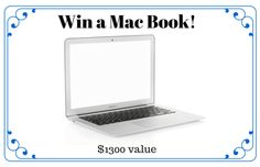 This 12- Inch Mac Book Apple (Silver)-(Intel Core M 1.1GHz, 8 GB RAM, 256 GB SSD, a $1300 value),beautiful, light weight, and clear screen. Thanks to @luckymarketeer and @appzthatrock: Enter Here N…