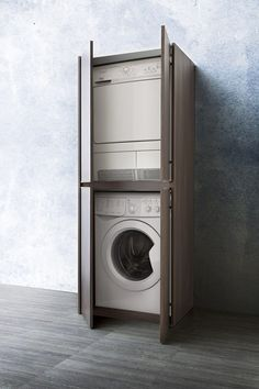 Blizzard washing machine and dryer cupboard - DIOTTI.COM Blizzard washing machine and dryer cupboard Bathroom Cupboards, Bathroom Storage Shelves, Ikea Bathroom, Bathroom Cleaning, Bathroom Plans, Bathroom Renovations, Small Space Bathroom, Tiny House Bathroom, Dream Bathrooms