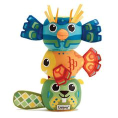 $19.99 - The Soft Totem Pole Stackers feature smart magnets that make stacking easy and non-frustrating, crinkle and rattle make little ears perk up and stacking helps baby develop dexterity and hand-eye coordination.r• rThe Lamaze classic play toys are designed to meet the imaginative and physical needs of a baby as he transitions from infancy to the early preschool years. • Traditional, classic play patterns are paired with fashion-forward patterns, colors, and textures to create toys...