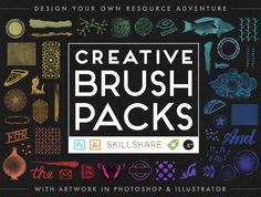Design Your Own Creative Brush Packs in Photoshop & Illustrator, a class taught by CreativeMornings/Austin speaker Gerren Lamson over on Skillshare.