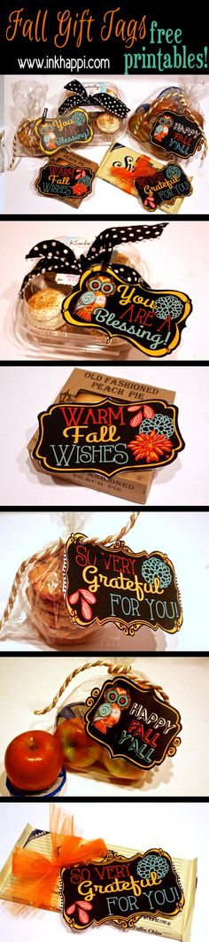 Fall printable gift tags to show your gratitude! ideas and download at…