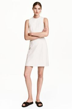 Fitted dress - Light beige/Pattern - Ladies | H&M