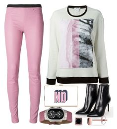 """Untitled #684"" by vero1307 ❤ liked on Polyvore featuring Helmut Lang, Barbara Bui, Anya Hindmarch, Philip Stein and Ice"