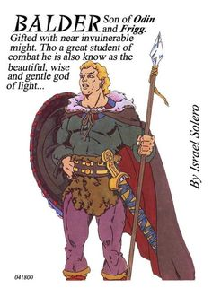 Balder: Odin's Son (Norse Myth), in Israel Algarin, S's Norse Myths (clr) Comic Art Gallery Room Pagan Gods, Norse Pagan, Old Norse, Odin Norse Mythology, Norse Goddess, Nordic Goddesses, Gods And Goddesses, Viking Art, Viking Runes