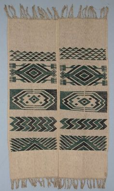 Chief's cloth from member of a society called Ogboni or Oshugbo among the Ijebu Yoruba people of south western Nigeria, early C20th. The designs are said to represent water spirits.British Museum #Af1964,02.55: