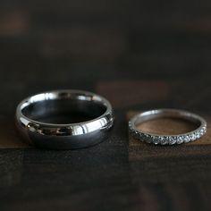 Burke and Bannayan white gold wedding rings