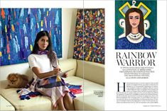 Marie Claire Leto Lama Artist and fashion designer Interview Cyclades Rainbow Warrior, Art Story, Marie Claire, Ava, Greece, Interview, December, Artist, Blog