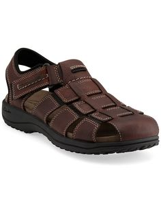 Jensen in Brown Oily Leather - Mens Sandals from Clarks - Love These Huarache, Brown Sandals, Leather Sandals, Clarks Sandals, Men's Clarks, Well Dressed Men, Comfortable Shoes, Leather Men, Casual Shoes