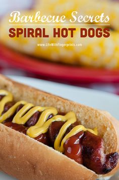 Barbecue Secrets: Spiral Cut Hot Dogs on iheartnaptime.com