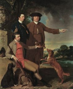 England 1763 Self Portrait with His Father & Brother by John Hamilton…