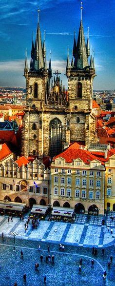 Gothic Tyn Church,Prague, Czech Republic