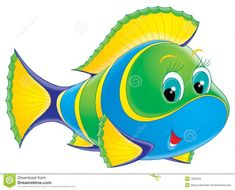 Isolated clip-art and childrena€?s illustration for yours design, po , Fish Philosophy, Postcard Album, Fish Clipart, Kite Designs, Seahorse Art, Cartoon Fish, Fish Stock, Fishing Pictures, Fish Crafts